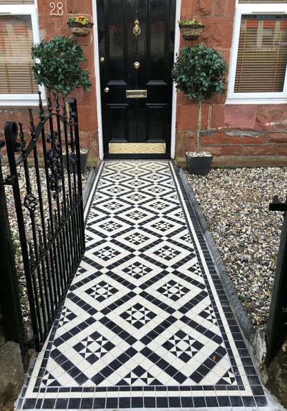 Victorian floor tiles - pathway