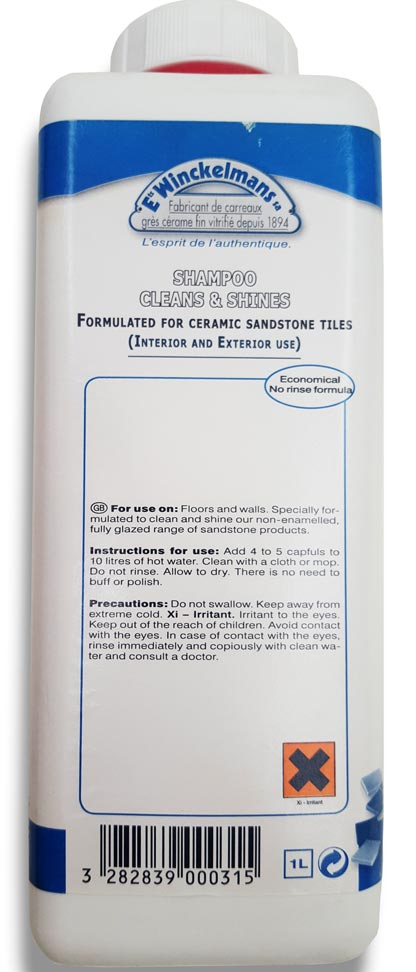 Cleaner for ceramic sandstone