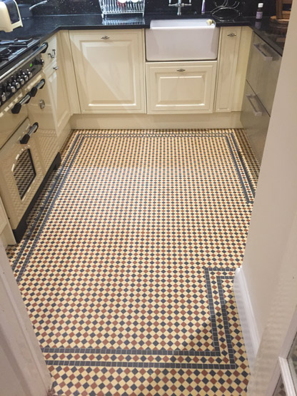 Kitchen floor tiles, 2x2cm thickness 3.8mm