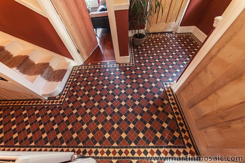 Hallway tiles 5x5cm thickness 5mm.