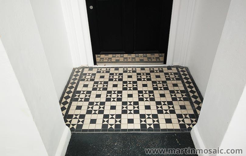 Floor Tiles 5x5cm Pathway Martin Mosaic Ltd Victorian Floor