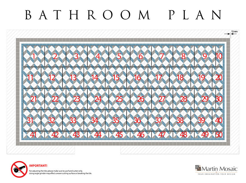 bathroom victorian tiles plan