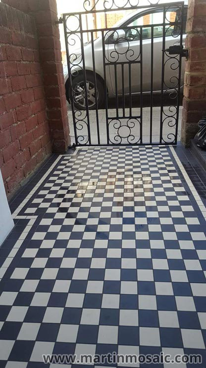 Mosaic Floor Tiles Pathway Tooting Martin Mosaic Ltd