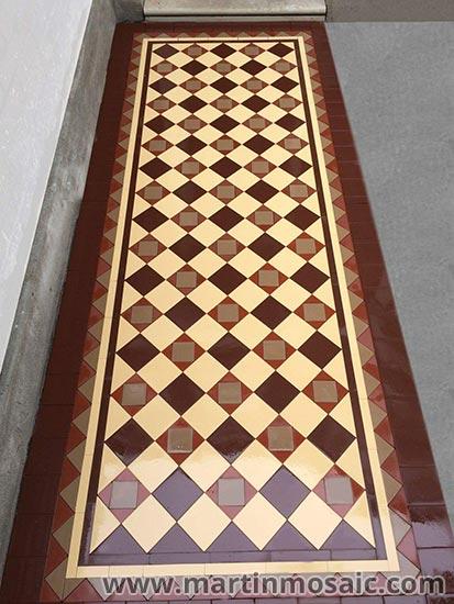 Unglazed victorian floor tiles, 5x5cm thickness 5mm