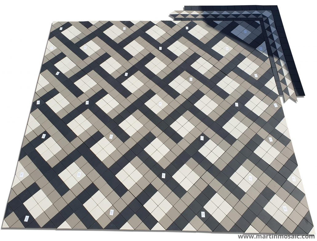 Bespoke tile design with mesh on the back, easy to lay out.