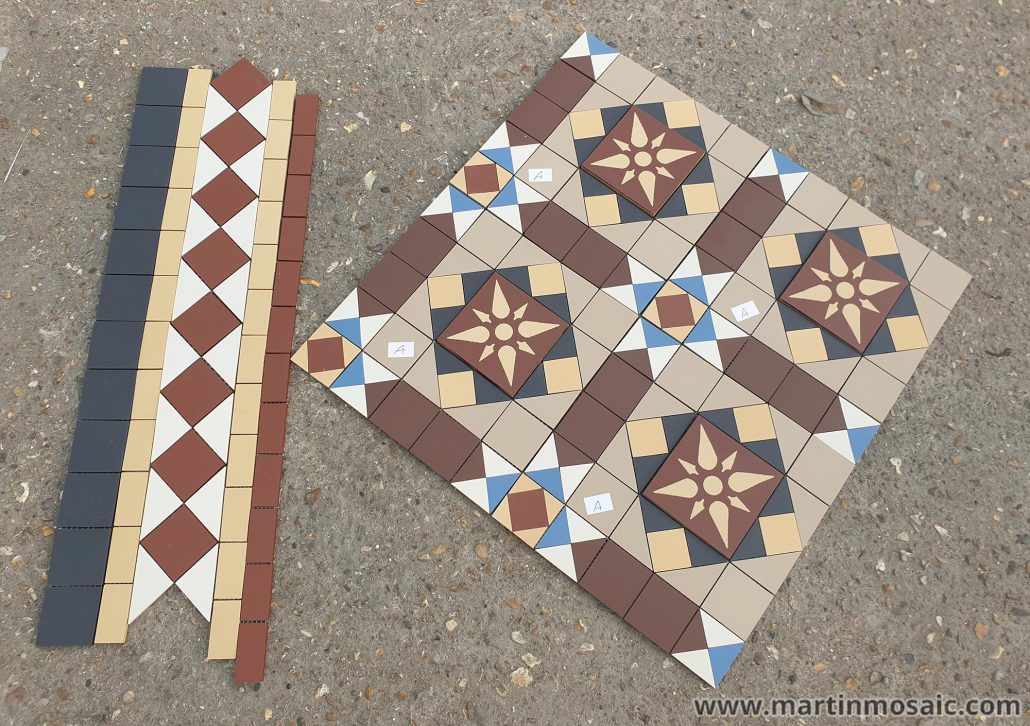 Bespoke design with encaustic tiles